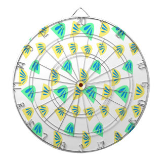 Design lemons on white dartboard