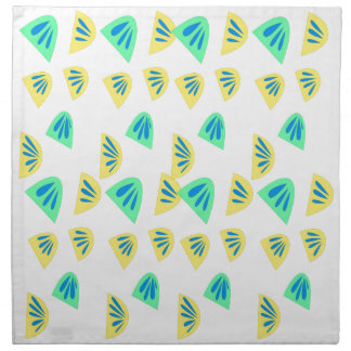 Design lemons on white napkin