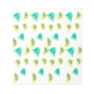 Design lemons on white notepad