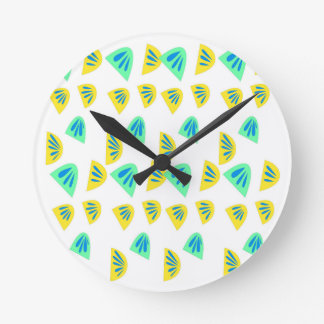 Design lemons on white round clock