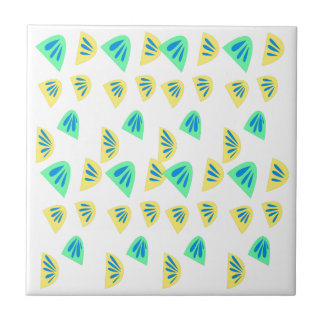 Design lemons on white tile