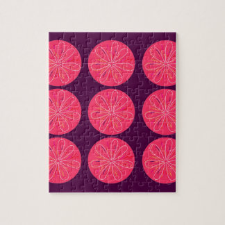 Design lemons pink wine jigsaw puzzle