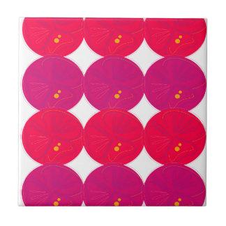 Design lemons slices pink tile