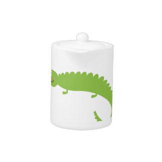 Design Lizard green on white