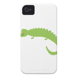 Design Lizard green on white iPhone 4 Case