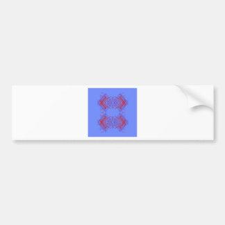 Design mandala blue  red bumper sticker