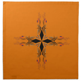 Design mandala Brown Napkin
