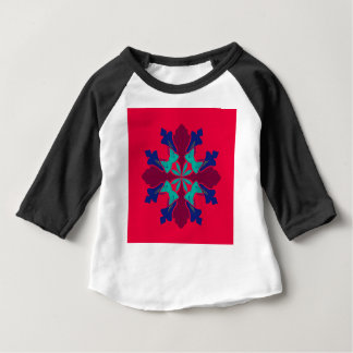 Design mandala Ethno  Red Baby T-Shirt