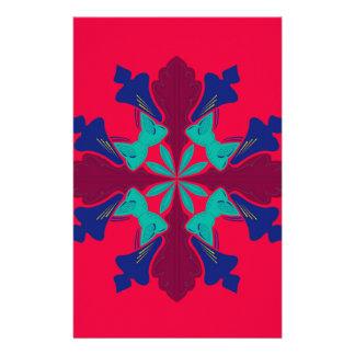 Design mandala Ethno  Red Stationery