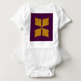 Design mandala gold wine ethno baby bodysuit