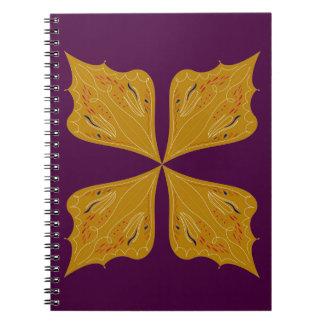 Design mandala gold wine ethno notebook