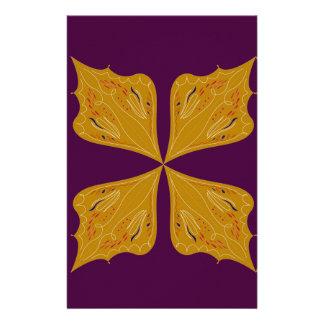 Design mandala gold wine ethno stationery