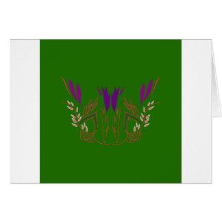 Design mandala Green Eco Card