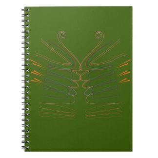 Design mandala Green Spiral Notebook