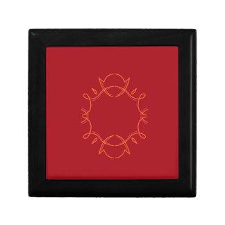 Design mandala on red gift box