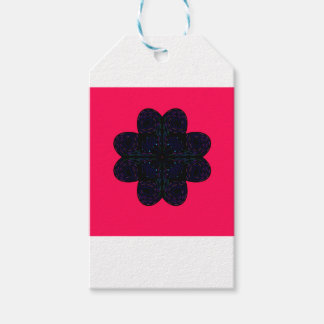 Design mandala on  Red Gift Tags