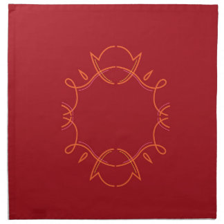 Design mandala on red napkin