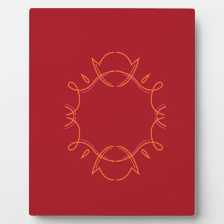 Design mandala on red plaque