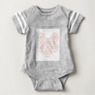 Design mandala on white baby bodysuit