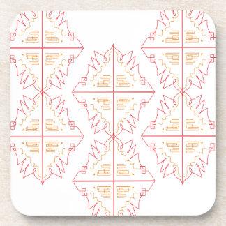 Design mandala on white coaster