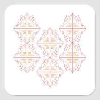 Design mandala on white square sticker