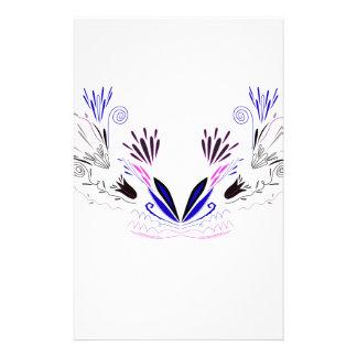 Design mandala on white stationery