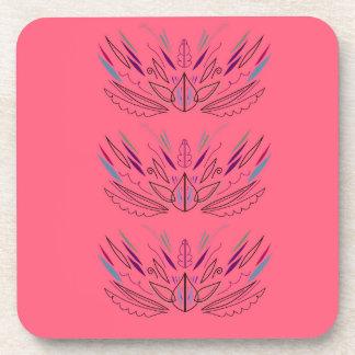 Design mandala pink coaster
