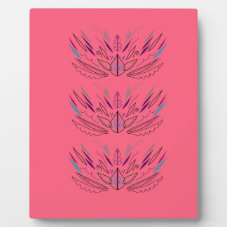 Design mandala pink plaque