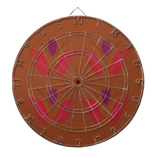 Design Mandala :  red on earth tones Dartboard