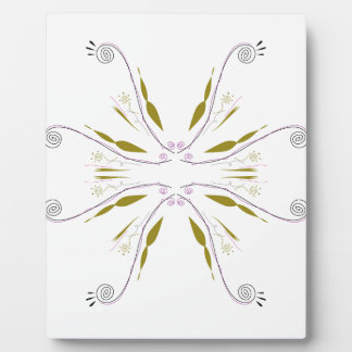 Design mandala white plaque