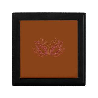 Design mandalas brown ethno gift box