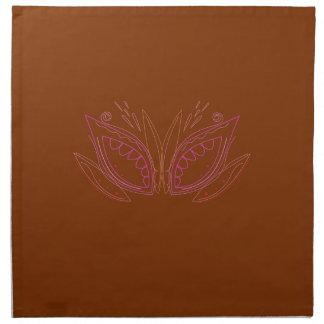 Design mandalas brown ethno napkin