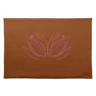 Design mandalas brown ethno placemat