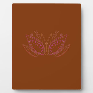Design mandalas brown ethno plaque
