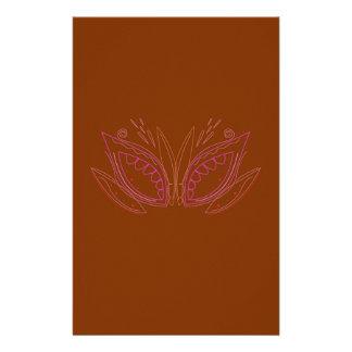 Design mandalas brown ethno stationery