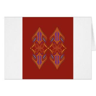 Design mandalas eco brown card