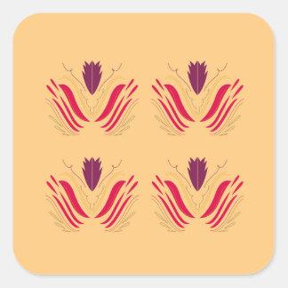 Design mandalas on Vanilla Square Sticker