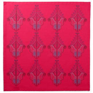 Design mandalas wild  red napkin