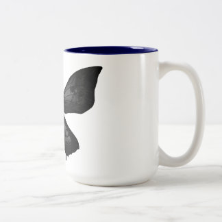 Design mug with butterfly