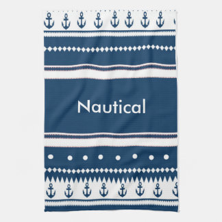 Design nautical kitchen towel