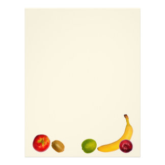 Design of fruits feel free to add your own text letterhead template