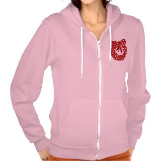 Design on Pocket Women s American Apparel Flex F Tee Shirt