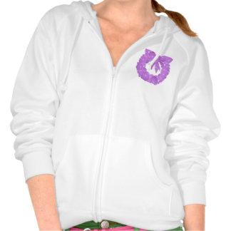 Design on Pocket Women s Fleece Raglan Zip Hoodi T Shirt