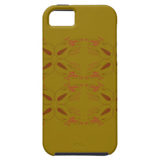 Design ornaments olive dark iPhone 5 cover