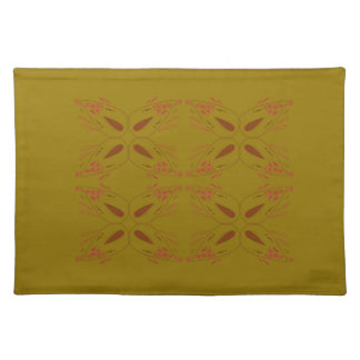 Design ornaments olive dark placemat