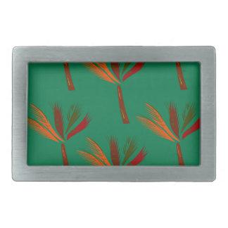 Design palms bio look rectangular belt buckle