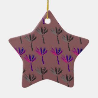 Design palms eco look ceramic ornament
