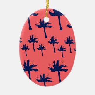 DESIGN Palms eco pink Ceramic Ornament