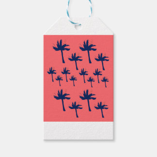 DESIGN Palms eco pink Gift Tags