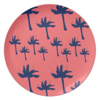 DESIGN Palms eco pink Plate